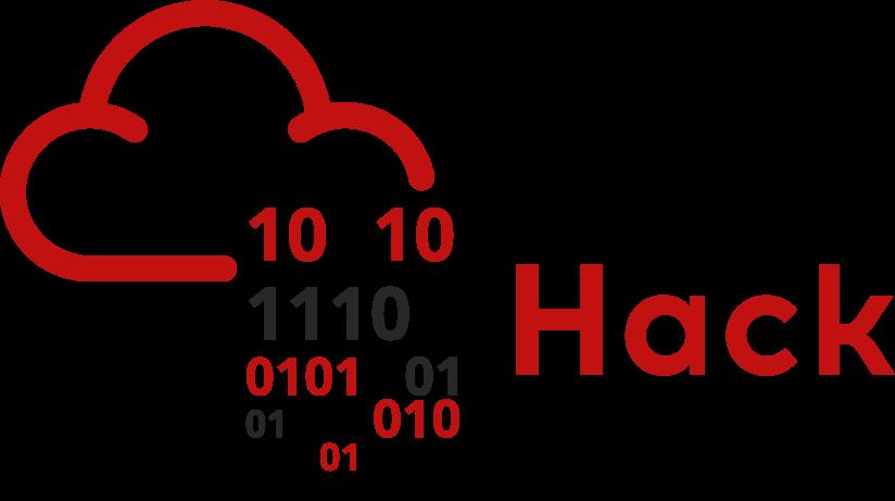 Logo Try Hack Me, uma nuvem vermelha chovendo números binários